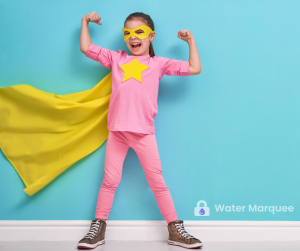 You can use watermarks to show creativity on your children's photos.
