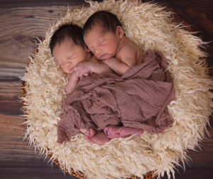 put the infant or infants on a soft textured surface.