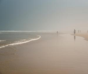 Fog can also make beach photography dramatic.