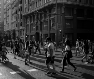 You don't need permission for street photography.